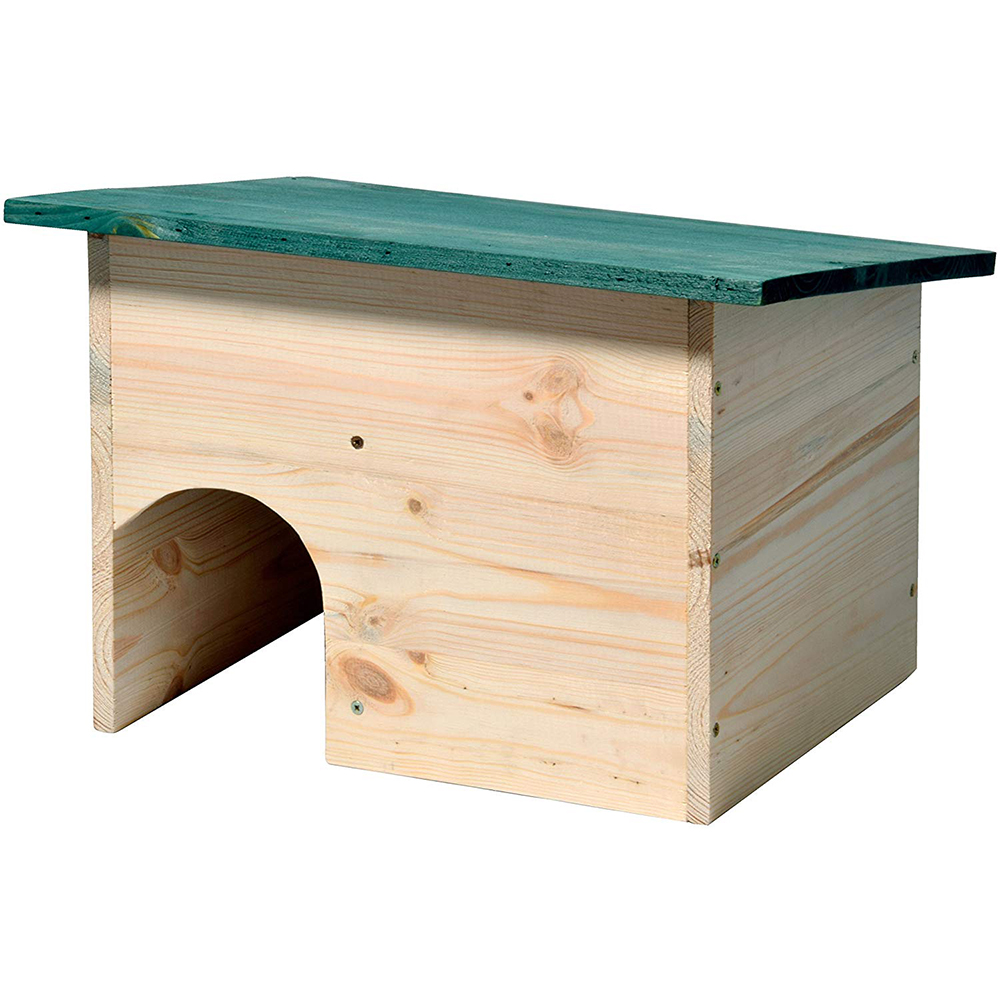 Dobar dobang 22222e hedgehog house kit with weatherproof roof with gate 34.5 × 24 × 27 cm green