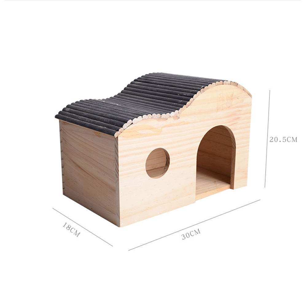 Manufacturer wholesales pet lovers' wooden house creative dragon cat nest villa squirrel wooden house pet products can be customized